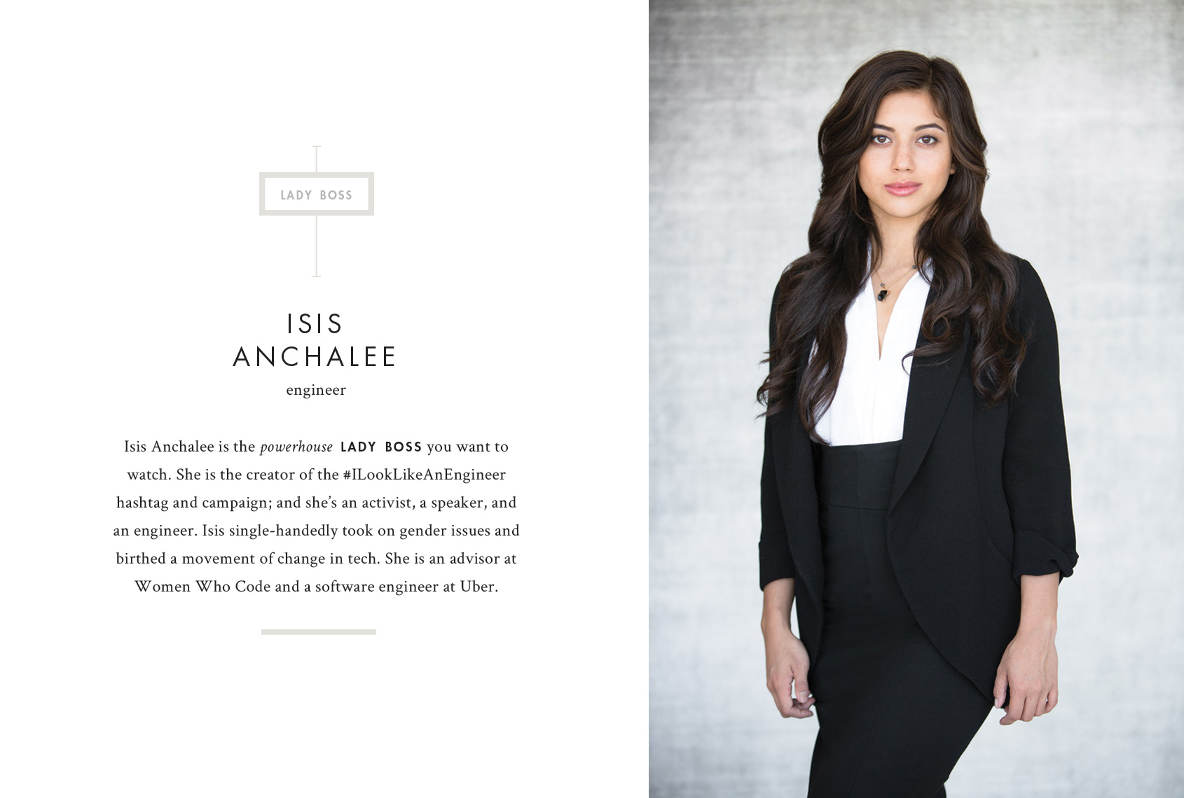 Print - Isis Anchalee, Engineer